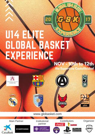 Participation historique au tournoi international Globasket de Barcelone avec FC Barcelone, Real Madrid, Emporio Milan...du 10 au 12 novembre !