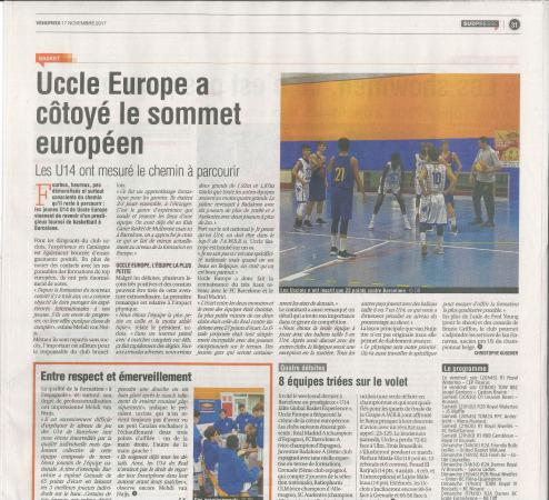 Uccle Europe dans la presse suite au tournoi international de Barcelone !